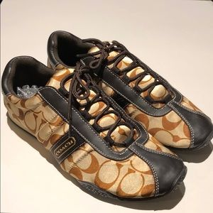 Coach woman's brown  sneakers size 9